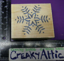 Snowflake Country Outline Rubber Stamps Embossing Arts 350F Creakyattic