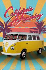 VW CAMPER - CALIFORNIA DREAMING POSTER 24x36 - RETRO VOLKSWAGEN 34191