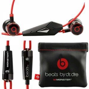 Original Monster iBeats Beats By Dr. Dre Earphones in-Ear Headphones with Mic🔥