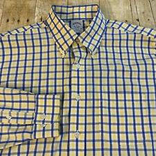 Brooks Brothers Regent Slim Fit Non Iron Windowpane Supima Shirt Large