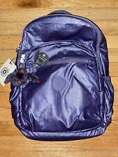 NWT Kipling BP4360 Seoul Backpack Laptop Travel Bag Enchanted Purple Metallic