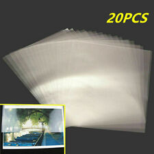 20Pcs A4 8 ''x12'' Transparent Double-sided Adhesive Tape Sheets DIY Craft