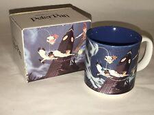 Vintage Walt Disney's Classic PETER PAN Ceramic Mug Made In Japan With Box EUC