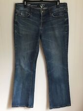Ann Taylor Womens Jeans Size 12 Petite Original Boot Dark Wash Relaxed Casual
