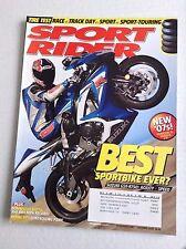 Sport Rider Magazine Suzuki GSX R750 December 2006 032017NONRH