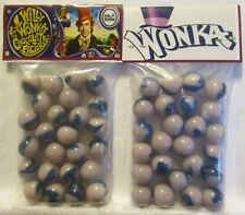 2 Bags Of Willy Wonka Chocolate Factory Movie Promo Marbles
