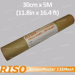 RISO ScreenMaster 135Mesh (thermal master screen printing film) - 30cm x 5M roll