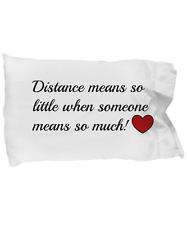 Long Distance Relationship Pillowcase Pillow Cover Friendship Boyfriend Gift