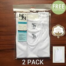 2 PACK Boys WHITE 100% Egyptian Cotton Tank Top A-Shirts 2T 4T S M L XL NEW #008