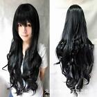 Fashion 80cm Cosplay Costume Long Full Hair Wavy Curly Wig Wigs Women Girls JJ