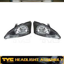 TYC 2pc Headlight Lamp Assembly Left Right Set For 2003-2004 Ford Focus(High)