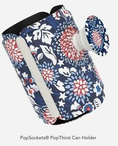 PopSockets® PopThirst Can Holder for Vera Bradley In Red White And Blossom