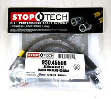 STOPTECH STAINLESS STEEL SS REAR BRAKE LINES FOR 90-05 MAZDA MIATA MX-5 NA NB