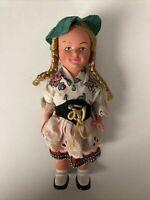 Vintage 1940/50s German Clockwork Doll by M.W.Germany - Celluloid Wind-Up NO KEY