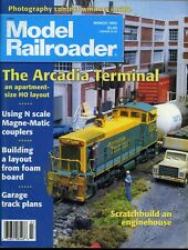 Model Railroader Magazine March 1995 The Arcadia Terminal apartment size layout
