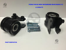 FORD FOCUS MK2 04-12 2 BUSHES FRONT WISHBONE SUSPENSION ARM REAR BUSH + Bolts