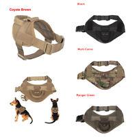 Tactical Service Harness Military K9 Working Patrol Adjustable Dog Vest W/Handle