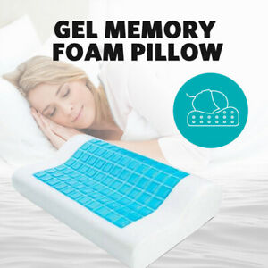 Memory Foam Neck Pillow Support Cushion Cooling Gel Ordinary Cover Contour