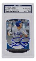 Joc Pederson Signed Topps #TP-13 Los Angeles Dodgers Bowman Card PSA