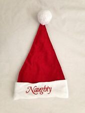 Red White HUMOR NAUGHTY NICE Santa Hat - Costume Accessory