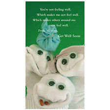 Sock'ems Unique Greeting Card - GET WELL SOON - #SE-13