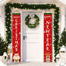 New Year Decor Gifts Door Banner Merry Christmas Hanging Merry Xmas Couplet HOT