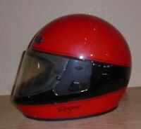 Vintage Vetter Bell Rogue Size X-Large Full Face Motorcycle Helmet Red