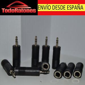 ADAPTADOR AUDIO CONVERTIDOR converter MINI JACK 6,35 mm A 3,5 mm ENVIO ESPAÑA