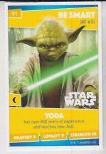SAINSBURYS HEROES - TRADING CARD - No 91 YODA