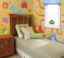 MONSTER SPLAT GiaNT WALL DECALS 42 Cute Sea Monsters Stickers NEW Bedroom Decor