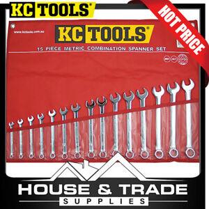 KC Tools Spanner Set 15 Piece Combination Metric A13337