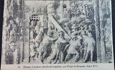 ANTIGUA POSTAL CATEDRAL BURGOS DETALLE TRASALTAR FELIPE BORGOÑA SIGLO XVI CC3764