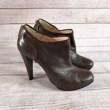 LK Bennett Booties UK 6 Brown Leather Ankle High Heels EUR 39.5 Blogger Trend