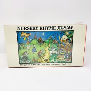 Vintage 1978 Orchard Toys Nursery Rhyme Jigsaw Puzzle 25 Big Pieces New Sealed