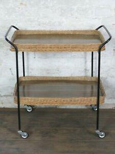 Servierwagen Trolley Beistelltisch Rollwagen Tisch 60er 70er Jahre Vintage alt