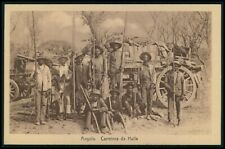 Angola Huila Ethnic black Africa horse wagon original c1920s postcard