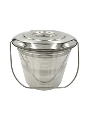 17 Ltr Stainlesss Steel Pail Milk Pail Bucket With Lid Brand New Seamless