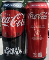 Coke-Cola & Coke Zero Stranger Things 1985 Limited Edition 16oz Tall Cans-NEW