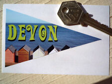 DEVON Retro Style Classic Car Window STICKER Camper Holiday Pennant 60's Travel
