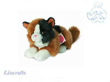 Lying Calico Cat Plush Soft Toy Kitten by Teddy Hermann Collection 90690
