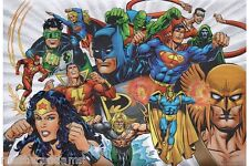 JUSTICE LEAGUE Of AMERICA Print DC Manhunter Dr Fate Spectre WW Batman Shazam