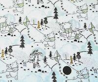 Christmas Winnie The Pooh & Friends - 100% Cotton Fat Quarter's