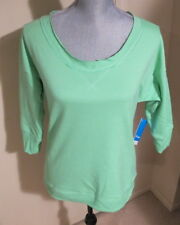 Women's Small Columbia My Terry-Tory 3/4 Sleeve Crewneck Top - NWT