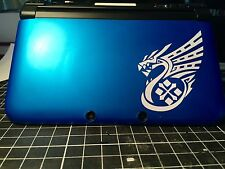 √ 1x WHITE MONSTER HUNTER 4 ULTIMATE DRAGON LOGO DECAL FOR 3DS XL GAME CONSOLE √