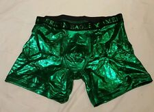 American Eagle Mens Medium Shiny Green Sexy Boxer Briefs NWT