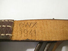 WWII German Leather Sling K98 Mauser Rifle Dated 1941 - Reproduction