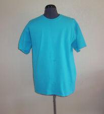 Men's Fruit of the Loom Turquoise Blue Short Sleeve Knit T-Shirt Large