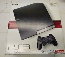 BOX ONLY PS3 Sony PlayStation 3 Slim 120GB Charcoal Black NO CONSOLE