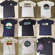 (2) Quiksilver Men's T-Shirts - Assorted  W/Defects size : Small Fast Shipping