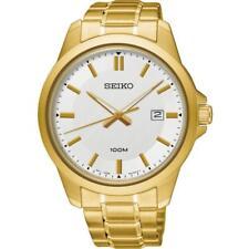 Seiko SUR248P1 Para Caballero Gold Tone 100 M Análogo De Acero Inoxidable Fecha Reloj RRP £ 239